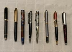Fountain and Rollerball Pens-8 Pens Total!