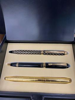 Montefiore Rollerball/ball Pen Set Includes 3 Pens And Black