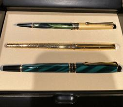 Montefiore Rollerball Pen Set Includes 3 Pens And Black Lacq